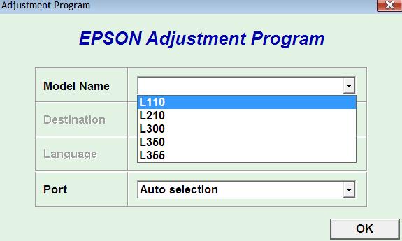 Cara Reset Epson L110, L210, L300, L350, L355