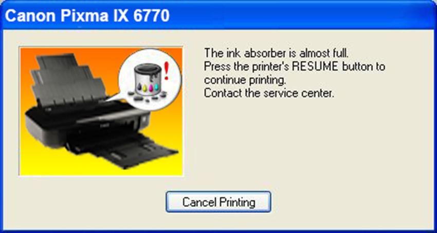 Cara Reset Printer Canon IX6770