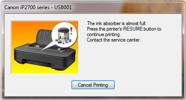 Cara Reset Printer Canon IP2770