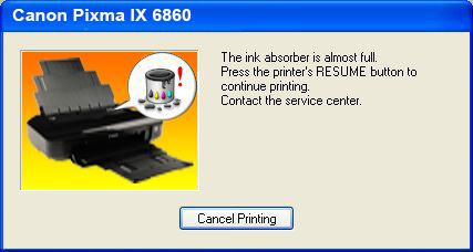 Cara Reset Printer Canon IX 6860
