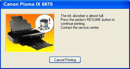 Cara Reset Printer Canon IX6870