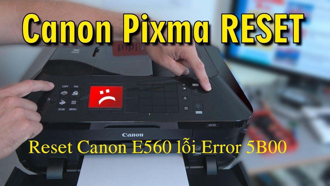 Cara Reset Printer Canon E560