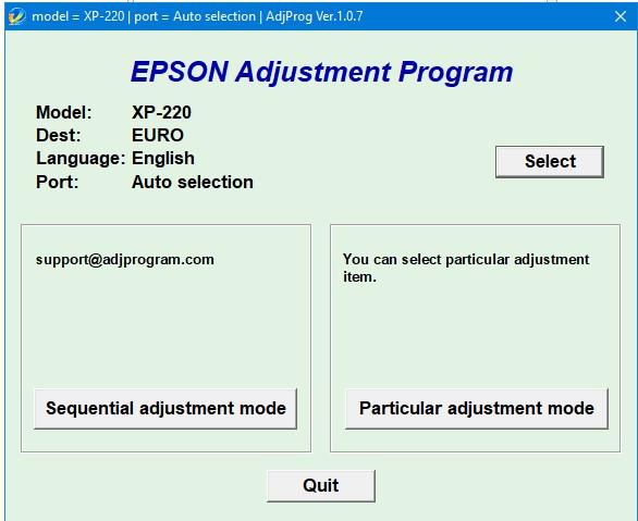 Cara Reset Epson XP 220