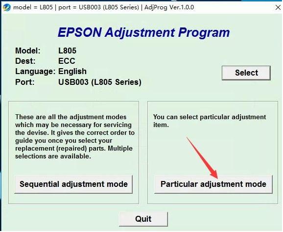 Hướng dẫn Reset Epson L805, Download Phần mềm reset tràn bộ đếm máy