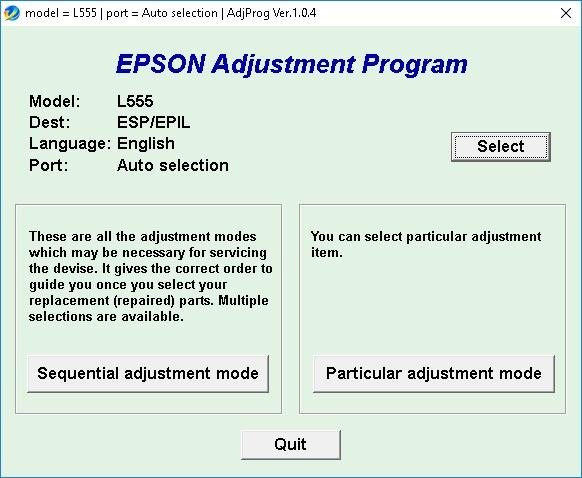 Cara Reset Epson L555