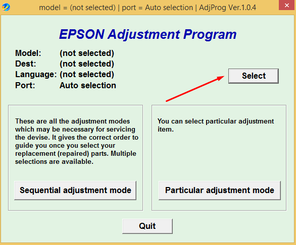 Cara Reset Epson L550