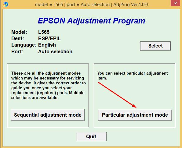 Cara Reset Epson L565