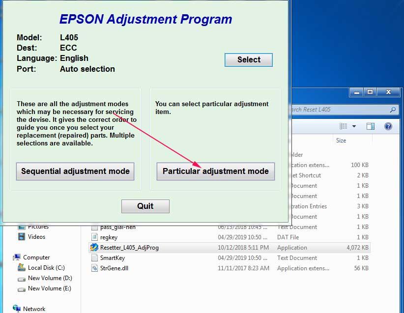 Cara Reset Epson L405