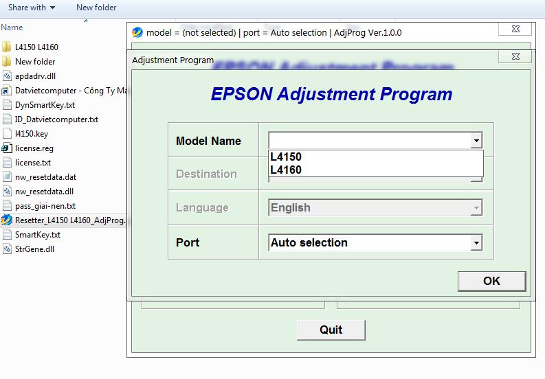 Cara Reset Epson L4160
