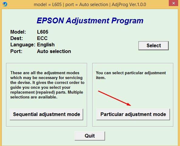 Cara Reset Epson L605