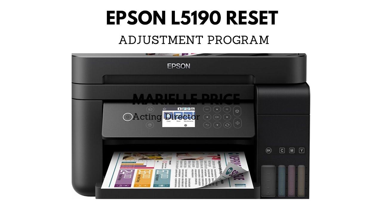 Cara Reset Epson L5190