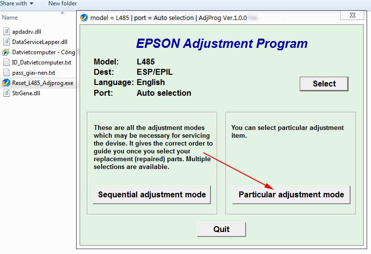 Cara Reset Epson L485