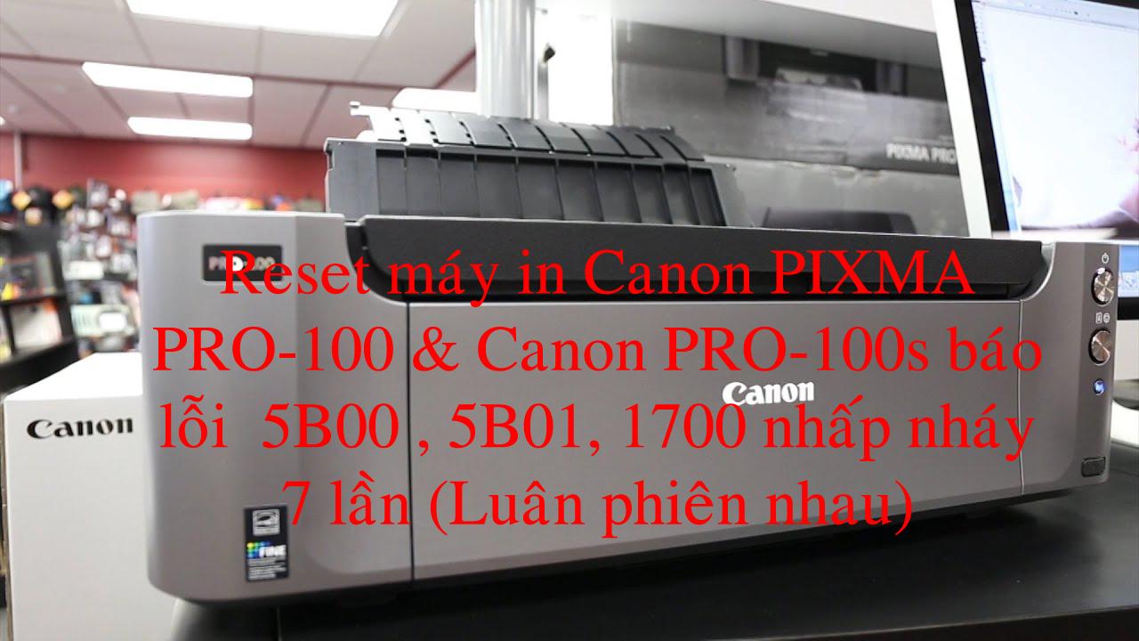 How to Reset  Canon PIXMA PRO-100